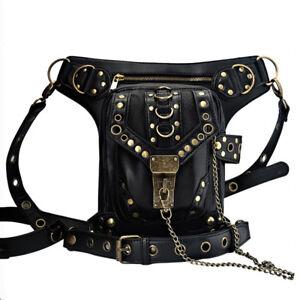 Punk-Handbag-Waist-Pack-Shoulder-Bag-Coin-Purse-Leg-Vintage-Gothic-Steampunk