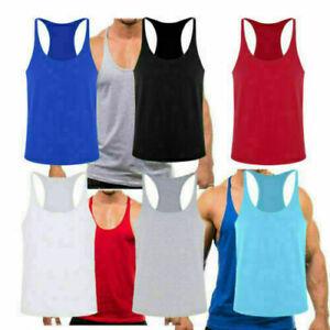 Stringer-Muscle-Bodybuilding-Shirt-Tank-Top-Gym-Singlet-Fitness-Sport-Vest-XL