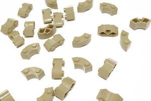 25 New LEGO Tan 2x2 Round Corner Bricks 85080 bulk lot city castle macaroni