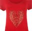 Ladies-Plus-Size-Short-Sleeve-Leopard-Print-Stud-Heart-Casual-Long-T-Shirt-Top thumbnail 7