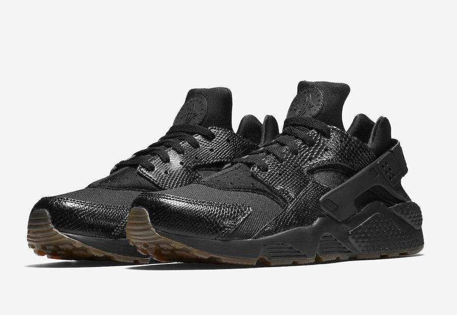 NIKE AIR HUARACHE BLACK / ELEMENTAL GOLD MEN'S US SIZE 13 STYLE