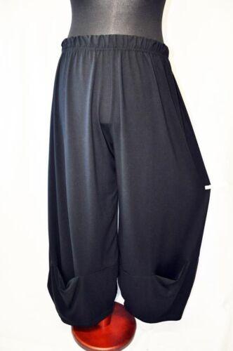 Lagenlook BIG-JERSEY-Ballonhose eingelassene Taschen BLACK XL,XXL,XXXL