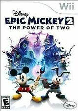 Disney Epic Mickey 2 The Power of Two RE-SEALED Nintendo Wii & WII U GAME