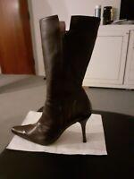 Støvler, str. 36,5, Snipe, Brun, Læder, Ubrugt