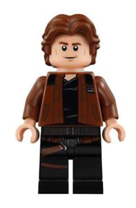Lego-Han-Solo-75212-75512-Brown-Jacket-with-Black-Shoulders-Star-Wars-Minifigure
