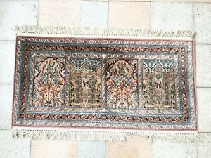 Tapis ancien Penjab Silk Rugs tappeto antico Cachemire alfombras indisch Teppich