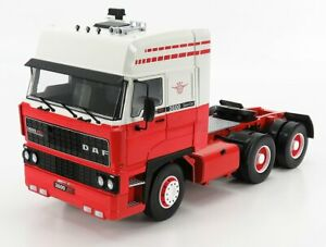 ROAD-KINGS 1/18 DAF   3600 SPACE CAB TRACTOR TRUCK 3-ASSI 1986   RED WHITE