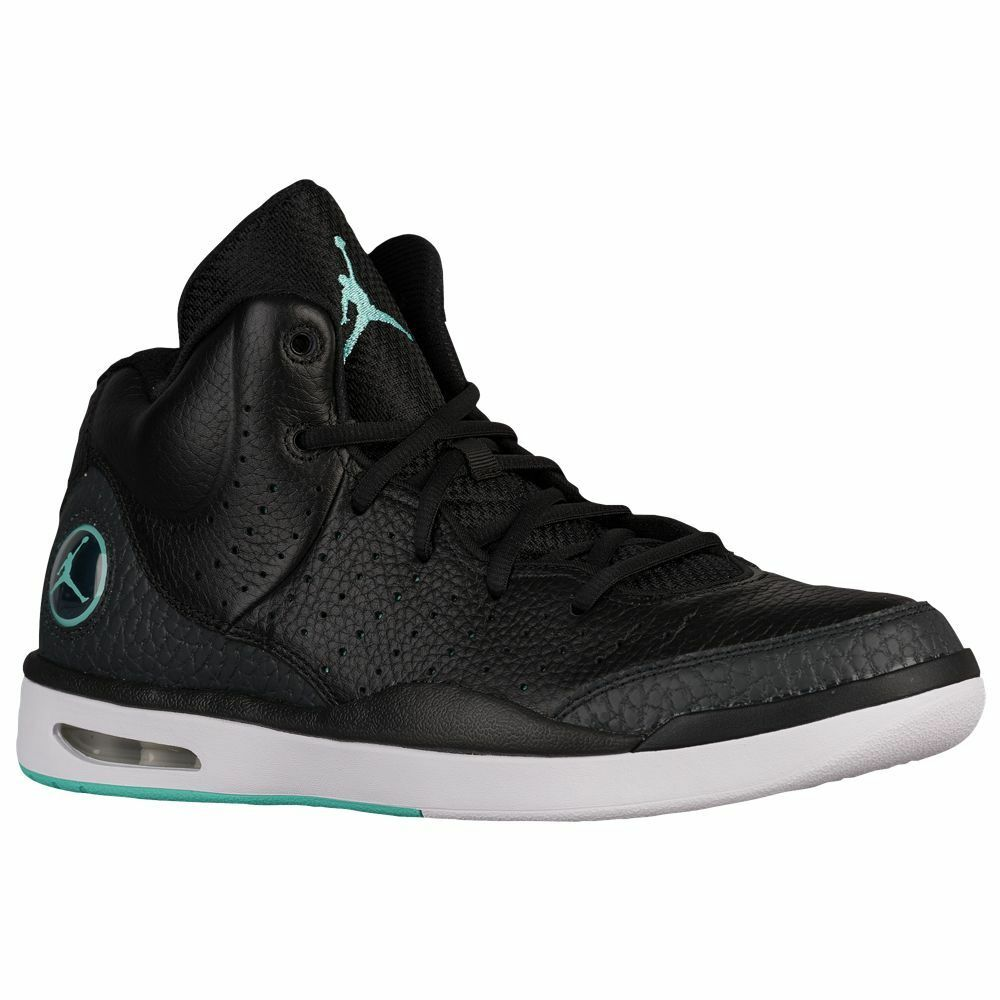 Men's Air Jordan Flight Tradition Black Hyper Turquoise NIB 819472-004