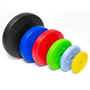 Hantelscheiben-2-5-5-10-20-30kg-Kunststoff-Gewichte-Hanteln-Set-Gewichtsscheiben
