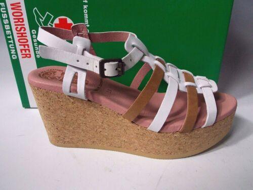 Worishofer White Pink Brown Slingback Sandal Size