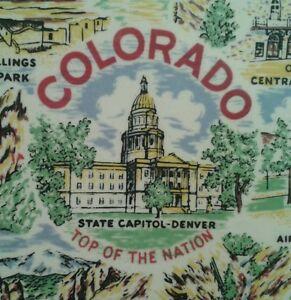 Vtg Colorado Travel Souvenir Plate Opera House Cheyenne Lodge Pike's Peak