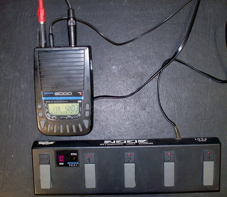 DSP Gitarren Effekt Prozessor ZOOM 9000 plus Remote Controller FC01 geprüft