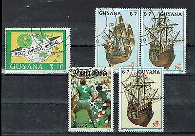 """Briefmarken WunderschöNen Tolle Sondermarken Guyana """" Segelschiffe,sport & Pfadfinder """" Feine Verarbeitung Guyana"""