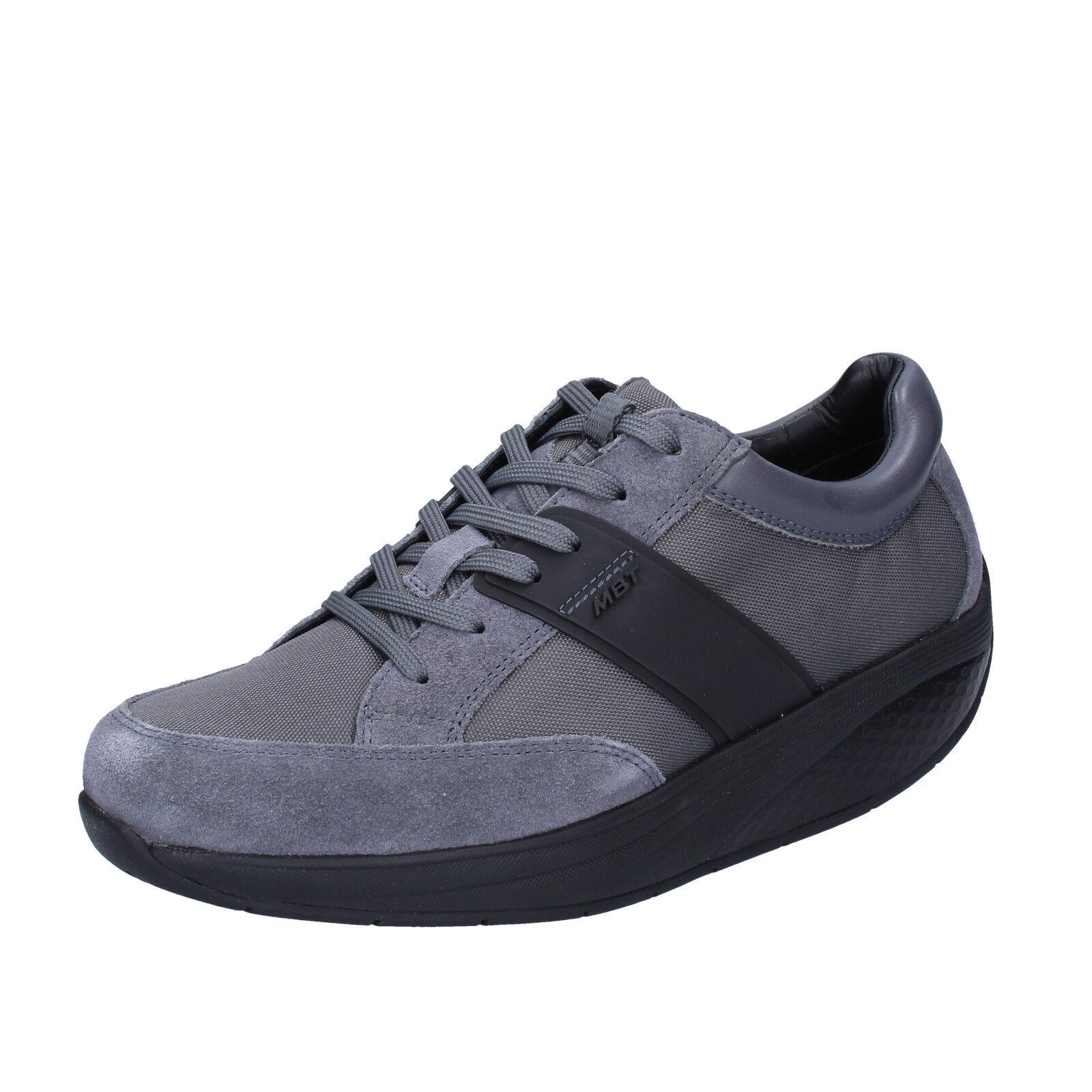 women's shoes MBT 4 / 4,5 () sneakers gray textile suede BT41-35