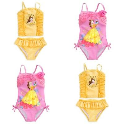 Disney Store Belle Swimsuit Beauty /& the Beast Swim Pool Beach Cover Up Yellow
