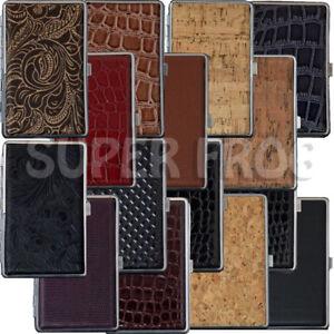 Cigarette-Case-Super-Slim-Size-Metal-Holder-Leather-Cases-Tobacco-20-Cigarettes