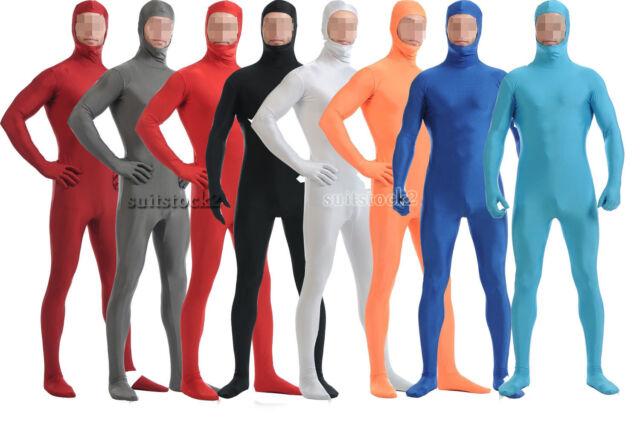 Dark Men Women Spandex Bodysuit Catsuit Dance Costume Unitard S-XXXL