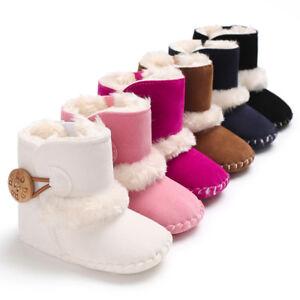 Recien-nacido-bebe-nino-Calidas-Botas-Nino-Chico-Chica-Zapatos-De-Piel-De-Nieve-Invierno-0-18-meses