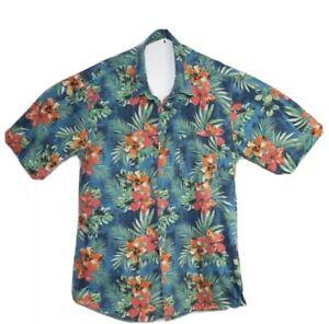 Jack & Jones Vintage Clth Men's Hawaiian Floral Short Sleeve Shirt Size XL