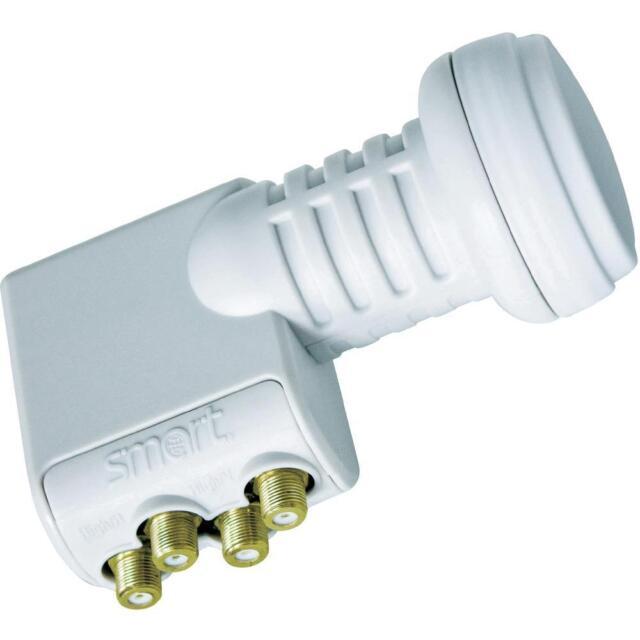 SMART Titanium Universal Quad TQS LNB 0.1dB Gold Connectors