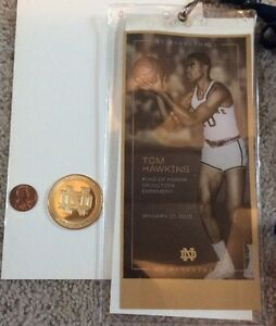 2015-NOTRE-DAME-BASKETBALL-TOM-HAWKINS-RING-OF-HONOR-COIN-MONOGRAM-CLUB-PIN