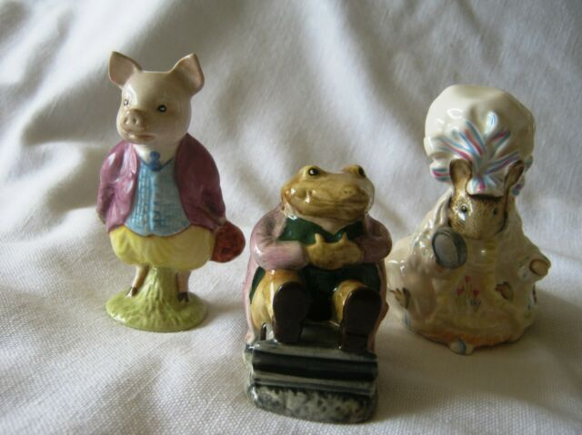 Royal Albert Beatrix Potter MR JACKSON, LADY MOUSE, & PIGLING BLAND- 56 Beswick