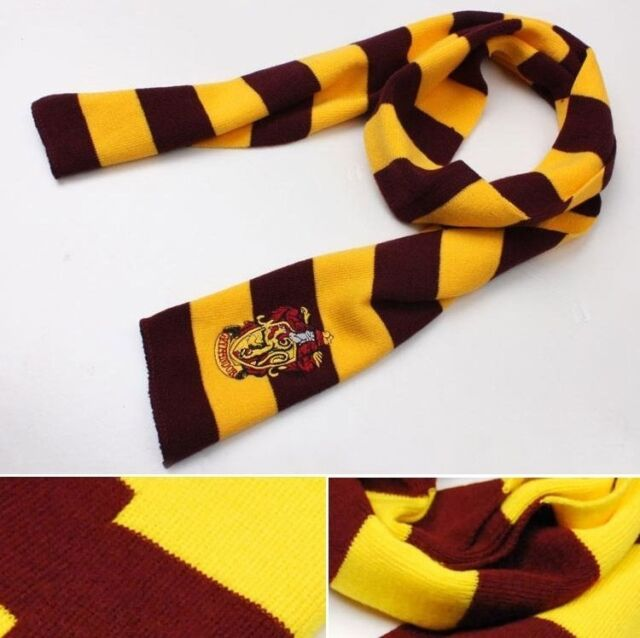 2014 Harry Potter Gryffindor House Cosplay Costume Knit Wool Scarf Wrap
