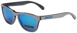 Oakley-Frogskins-Sunglasses-OO9013-C055-Checkbox-Silver-Prizm-Sapphire-BNIB