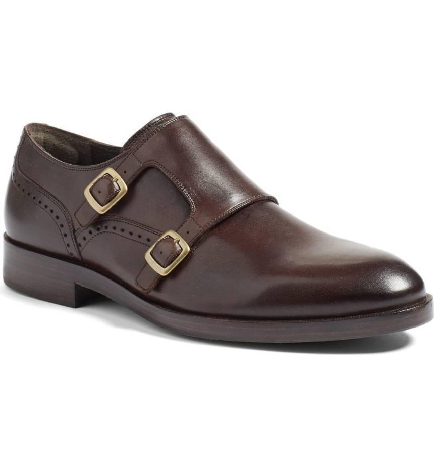 Handmade Men braun leather Double Monk Strap schuhe, Men dress schuhe