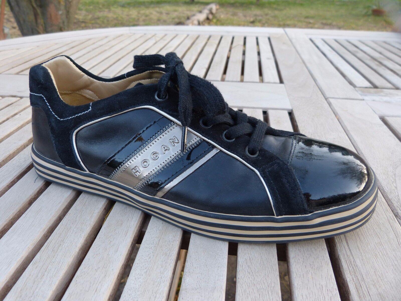 Fff zapatillas TENNIS marque HOGAN negro T F 39 EN EXCELLENT ETAT