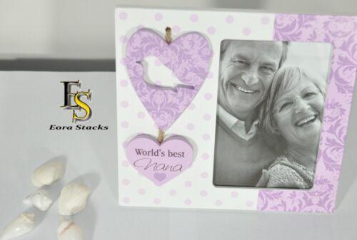 Mum Nana Sis Pink /& White Heart Pastel Swirl Photo Frame 6X4 Mother/'s Day Gift