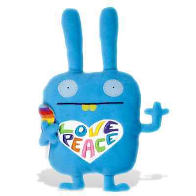 """RETIRED GUND - UGLYDOLL - 18""""  COLORFUL WIPPY - PEACE + LOVE + LOLLYPOP  - NWT"""