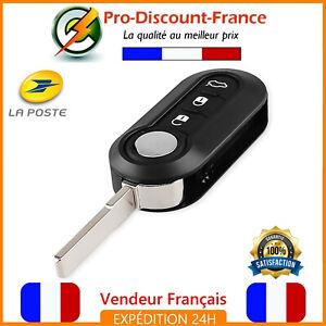 Coque-Cle-pour-Fiat-500-Panda-Ducato-Bravo-Stilo-Brava-3-Boutons-Telecommande