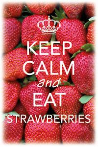 Keep-Calm-And-Manger-Fraises-Tole-Plaque-Etain-Signer-20-X-30-cm-CC0460