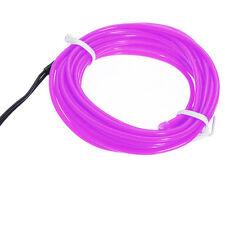 Lila EL flexible Draht Neonlicht 5M Tanzparty Dekor + Steuerung GY