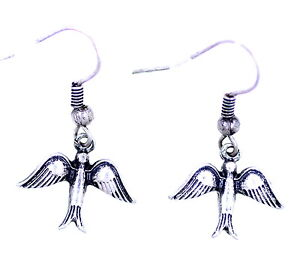 Vintage-style-antique-silver-coloured-swallow-bird-dangle-earrings