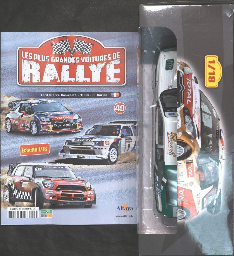 RALLYE 1 18 N°49   FORD SIERRA COSWORTH 1988-D AURIOL