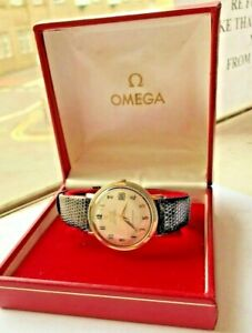 Gents-18-Carat-Gold-Capped-And-Steel-1966-1967-Omega-Constellation-Watch-Boxed