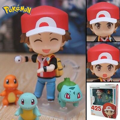 "Anime Pokemon Red Nendoroid/Charmander/Bulbasaur 10cm/4"" PVC Figure NB & WB#425"