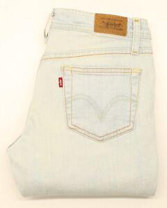 Levi-039-s-518-Damen-blau-Bootcut-Stretch-Jeans-w28-l32-25764