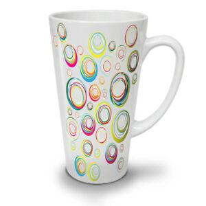 Circle Stylish Fashion NEW White Tea Coffee Latte Mug 12 17 oz | Wellcoda