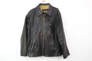 Mens-Real-Leather-Black-Jacket-size-See-Description-No-T561-30-5