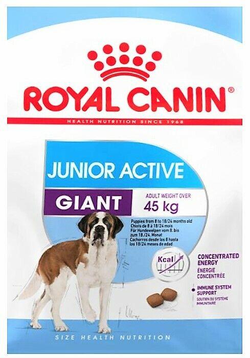 Royal Canin Giant Junior Active GIANT Futter für aktive Riesen-Rassehunde  15 kg