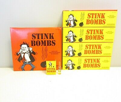 9 STINK BOMBS GLASS VIALS /& 9 FART BOMB BAGS   NASTY GAS SMELL ODOR  GAG GIFT