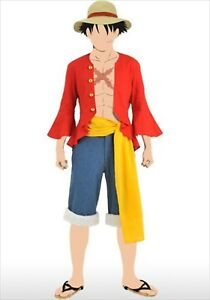 Details About One Piece Monkey D Luffy Cosplay Costume Set M Official Halloween Japan Used