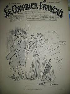 DESSINS-SATIRIQUES-FORAIN-HEIDBRINCK-LUNEL-RIQUET-N-3-LE-COURRIER-FRANCAIS-1890