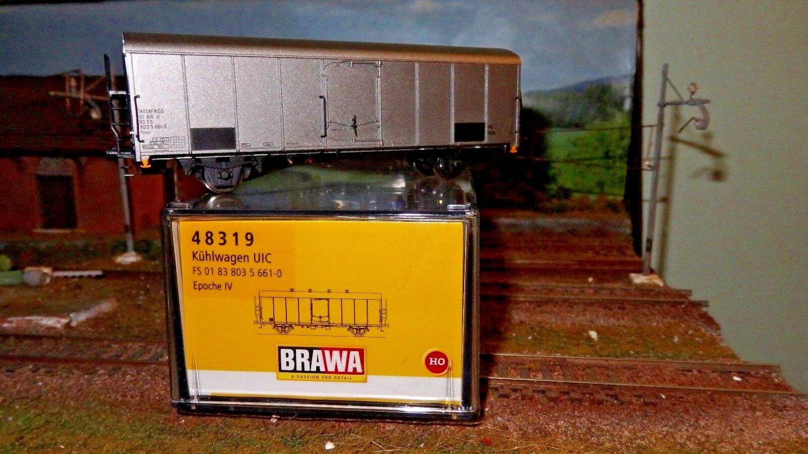 BRAWA 48319 Carro FS Ibeqs INTERFRIGO livrea silver