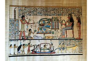 "30x40 Cm Ancient Horus Eye Original Egyptian  Hand Painted Papyrus 12/""X16/"""
