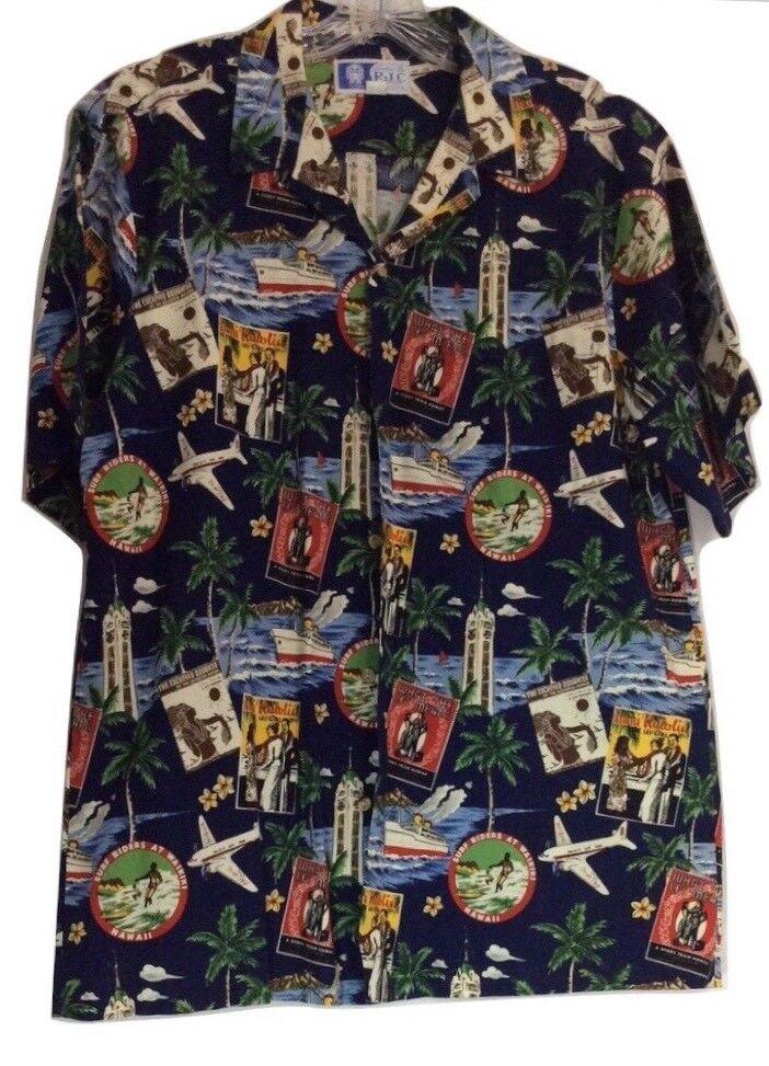 cf4075d3 RJC Vintage Print Hawaiian Shirt Mens Size EUC HTF Large nthbtv4195 ...