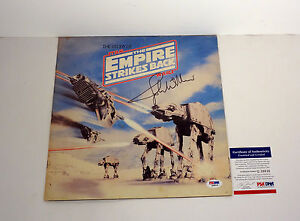 John Williams Signed Star Wars The Empire Strikes Back Record Insert PSA/DNA COA